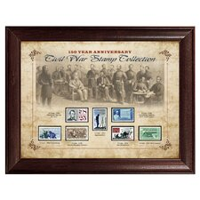 150 Year Anniversary Civil War Stamp Framed Memorabilia