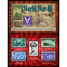 World War II Stamp Framed Memorabilia