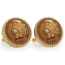 <strong>American Coin Treasures</strong> Bezel Rope Cufflinks