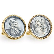 Steel Bezel Rope Cufflinks