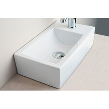 Small Rectangular Bar Single Hole Bathroom Sink