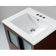 "Flair 32"" Ceramic Vanity Top with Integrated Bowl"