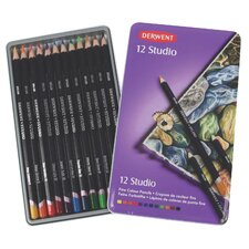 <strong>Derwent</strong> Studio 12 Piece Colored Pencil Set