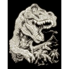 Glow Tyrannosaurs Art Engraving