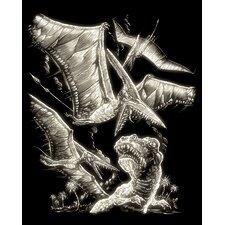 Glow Pterodactyl Art Engraving