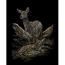 Deer Art Engraving