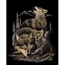 Wolves Art Engraving