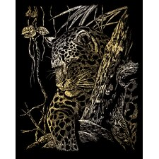 Leopard Tree Art Engraving