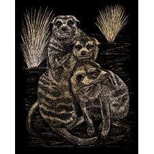 Meer Cats Art Engraving