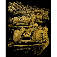 Nostalgic Race Cars Art Engraving