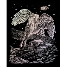 Holographic Pegasus Art Engraving