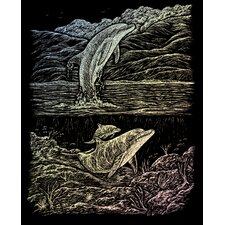 Holographic Dolphin Cove Art Engraving