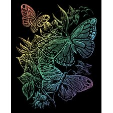 Rainbow Butterflies Art Engraving