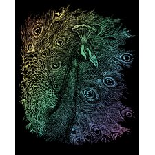 Rainbow Peacock Art Engraving
