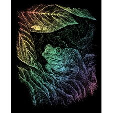 Rainbow Frog Art Engraving
