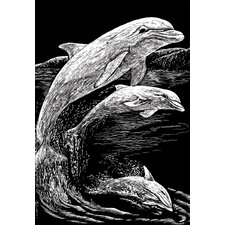 Dolphins Art Engraving