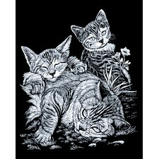 Tabcat and Kittens Art Engraving