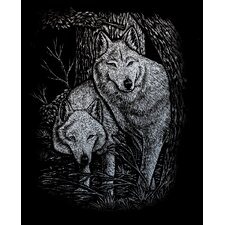 Wolves Tree Art Engraving