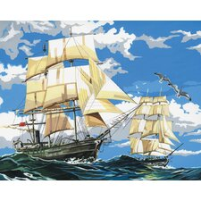 Painting by Numbers Artist Canvas Series SaiLong Ships Set