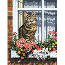 Painting by Numbers Artist Canvas Series Cat In Window Set