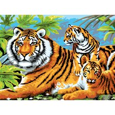 Painting by Numbers Junior Large Tiger and Cubs Set