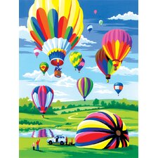 Painting by Numbers Small Hot Air Balloon Junior  Set