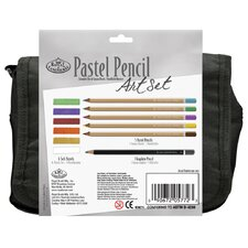 Pastel Pencil Satchel Art Set
