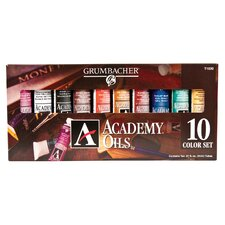 Academy Color Tube Paint (Set of 10)