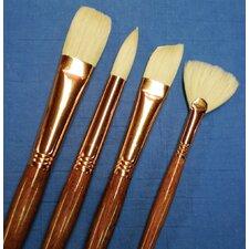 Natural Bristle Fan Brush