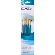 RealValue Natural Bristle Brushes (Set of 4)