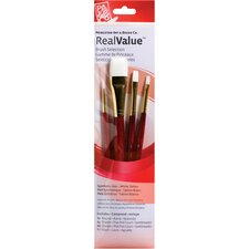 White Taklon Brushes (Set of 4)