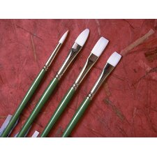 Long Handle Synthetic Bristle Flat Brush