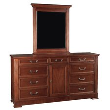 <strong>Leda Furniture</strong> Princeton 9 Drawer Combo Dresser
