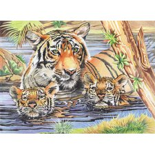 Colored Pencil By Numbers Gift Set Tigers and Cubs Colored Pencil