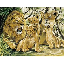 Paint By Numbers Large Pride of Lions Painting
