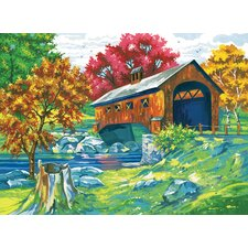 Paint By Numbers Large Covered Bridge Painting