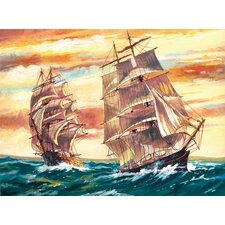 Paint By Numbers Large Sailing Ships Painting