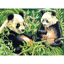 Paint By Numbers Large Pandas Painting
