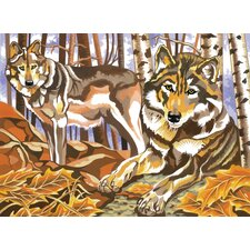 Paint By Numbers Large Wolves Painting