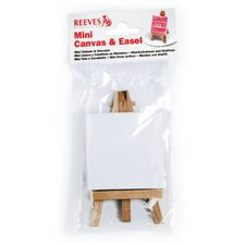 Mini Canvas and Mini Easel in Poly Bag (Set of 8)