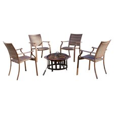 Island Cove 5 Piece Seating Group & Fire Pit Set