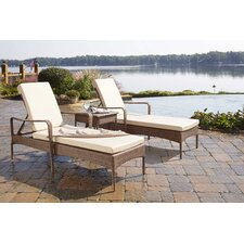Key Biscayne 3 Piece Chaise Lounge Set with Cushion