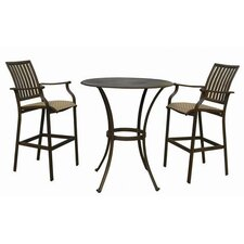 Island Breeze Pub Table and Barstool Set