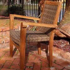 <strong>Panama Jack Outdoor</strong> Leeward Islands Stacking Dining Arm Chair