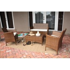 St. Barths 4 Piece Lounge Seating Group with Cushions