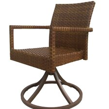 <strong>Panama Jack Outdoor</strong> St Barths Swivel Dining Arm Chair (Set of 2)
