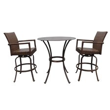 <strong>Panama Jack Outdoor</strong> St Barths 3 Piece Pub Dining Set