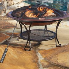 <strong>Panama Jack Outdoor</strong> Copper Plated Fire Pit