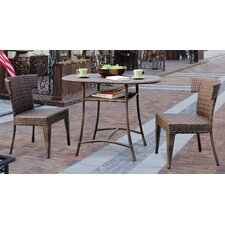 <strong>Panama Jack Outdoor</strong> Key Biscayne 3 Piece Honeymoon Bistro Set