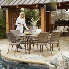 <strong>Panama Jack Outdoor</strong> Island Cove 7 Piece Dining Set
